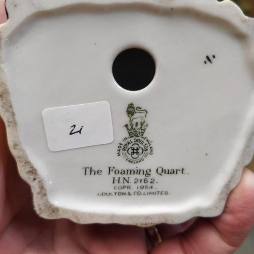21 - Royal Doulton The Foaming Quart -HN2162