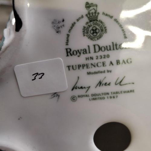 33 - Royal Doulton Tuppence A Bag - HN2320