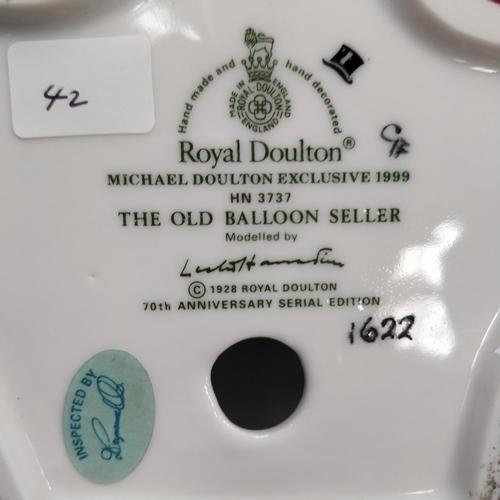 42 - Royal Doulton The Balloon Seller -  HN3737 -Rare Marking
