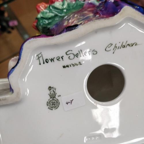 47 - Royal Doulton Flower Sellers Children - HN1342