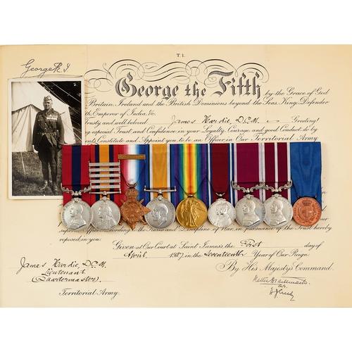 52 - WW1 2nd BN Gordon Highlanders DCM, MSM Italian Al Valore Group of Nine Medals. Awarded to Captain Qu...