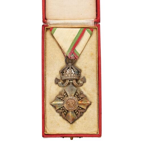 Bulgaria. WW1 Order of Civil Merit 6th Class, cased breast badge