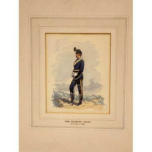 """The Military Train. Officer circa 1865"" watercolour by Pierre Mejanel."