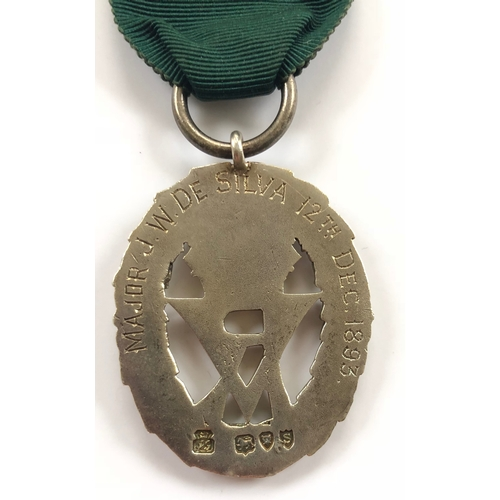 59 - Victorian 4th VB King's Liverpool Regiment Officer's Volunteer Decoration.  This example has been pr...