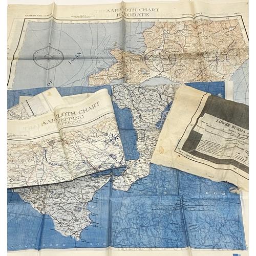 WW2 / Cold War US Air Force Silk Escape Maps