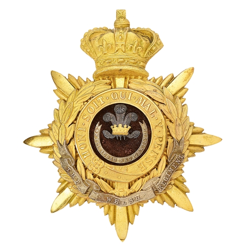 8 - Welsh Regiment Victorian Officers helmet plate circa 1881-1901.