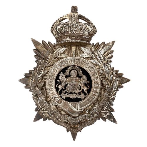 21 - 3rd (Ashton-under-Lyne) VB Manchester Regiment Officers helmet plate circa 1901-08.Good die-stamped...