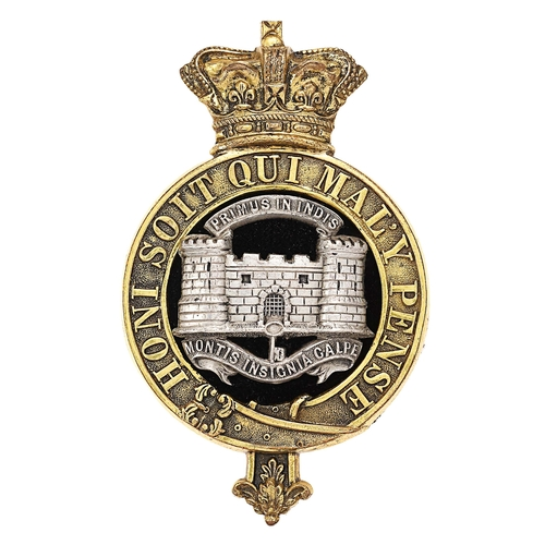 Dorsetshire Regiment Victorian Officers glengarry badge circa 1881-96.
