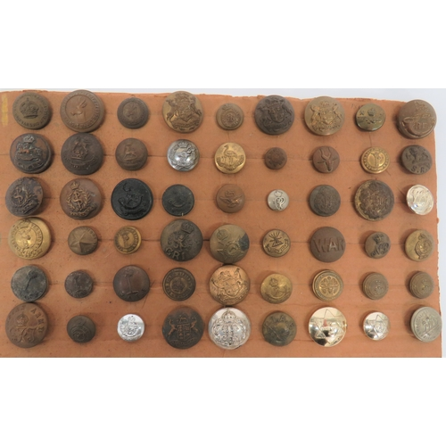 40 - Small Selection of Commonwealth Buttons including small, brass KC Hong Kong Volunteer Corps ... Smal...