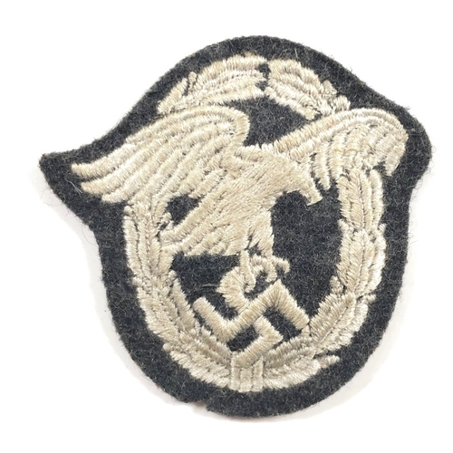 German Third Reich. Luftwaffe Observer Badge in cloth.