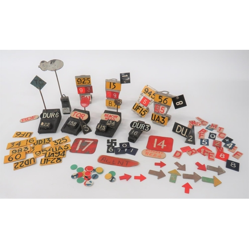 11 - Good Selection of Aircraft Plotting Markers including 4 x alloy plotting stands ... 5 x wooden plott...