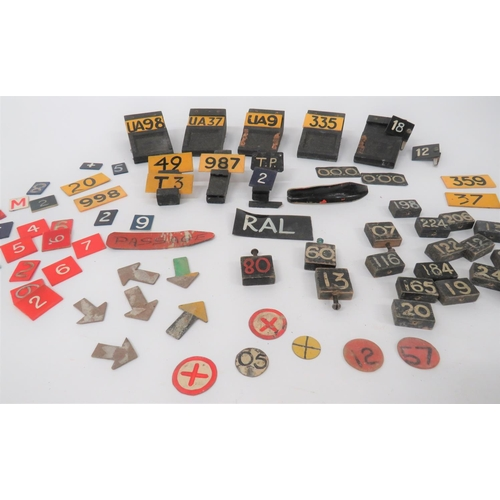 12 - Selection of Aircraft Plotting Markers including 8 x wooden plotting stands ... Various number and l...