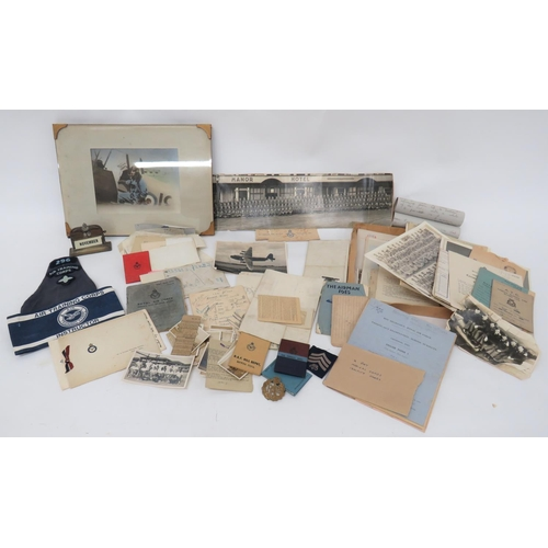 20 - Good Selection of Royal Air Force Ephemera including EPNS desk calendar with RAF wings mounted on th...