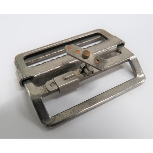 41 - WW2 Battledress Buckle Escape Compass chrome plated buckle. Central slider securing the small, rect...