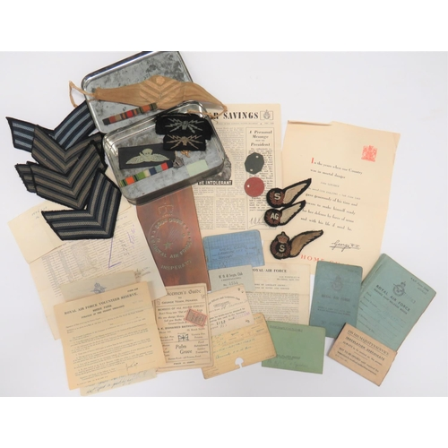 45 - Paperwork and Badges To An RAF Aircrew with 62 Squadron all relating to Sergeant J H P Lawrence. In...