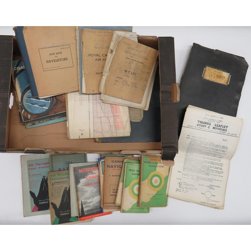 46 - Quantity of Royal Air Force Training Manuals and Books all relating to Sergeant J H P Lawrence. Inc...
