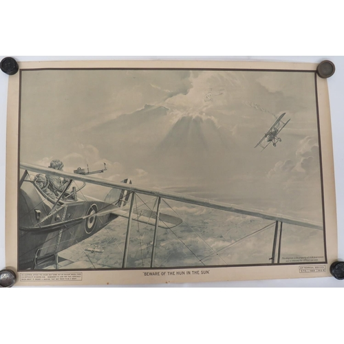 49 - Scarce 1918 Dated RAF Training Poster