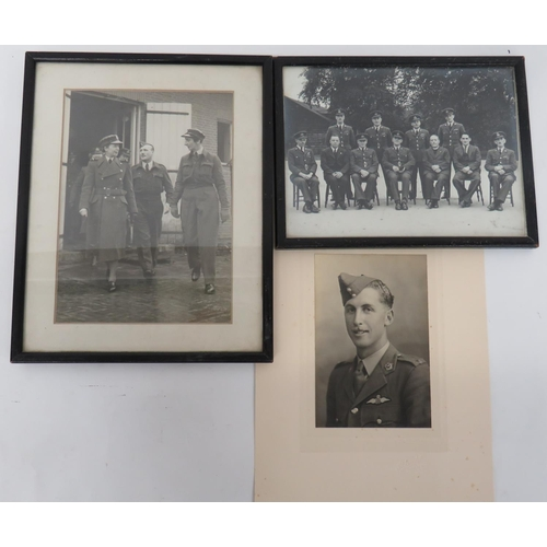 60 - Three Various Aviation Photographs consisting black and white photo of Air Chief Dame Ruth Mary Eldr...