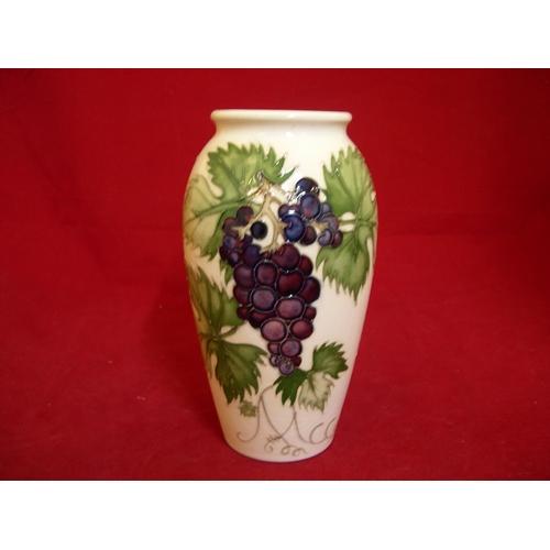 """40 - Moorcroft collectors club 1987 Moorcroft vase """"Grapes""""...."""
