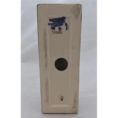 47 - Rare MOORCROFT triangular MOORCROFT shop display sign  6 x 19 cm...