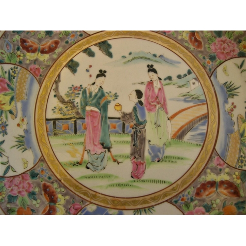 52 - Large Asian antique circular plate, marked to base, 31cm in diameter, good condition....