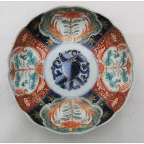 57 - Small antique painted bowl, unmarked  15cm in diameter...
