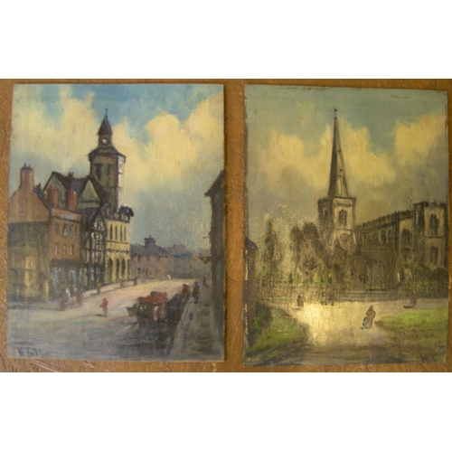 702 - Pair of Henry Hadfield Cubley (1858-1934) oils on board,