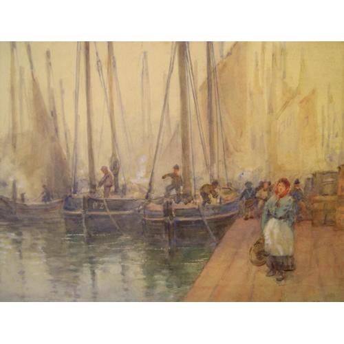 778 - Large Frank Rousse impressionist watercolour