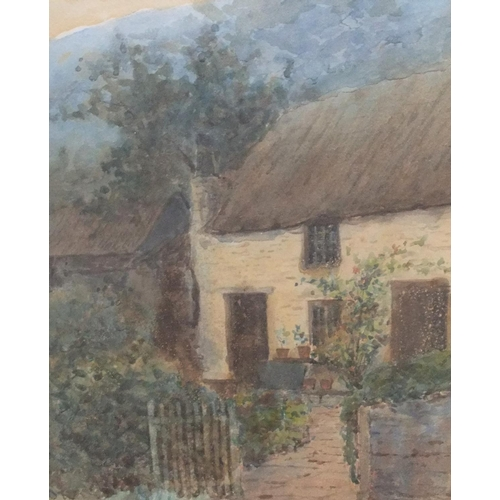 709 - 2 antique pictures, 1 pastel of cows grazing, the other A O Townsend watercolour, both framed  34 x ...