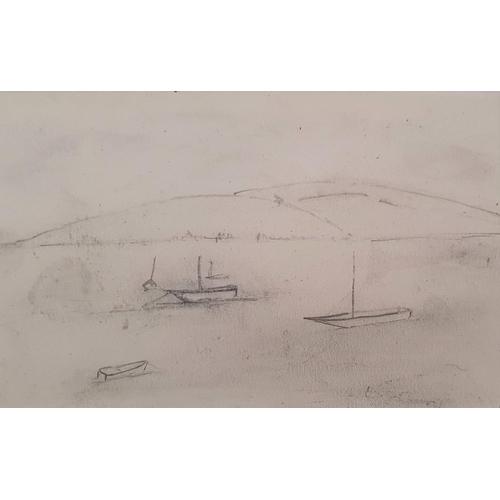 870 - L S Lowry, pencil sketch