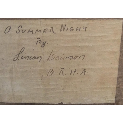 644 - Lillian Davidson (?) oil on wood panel