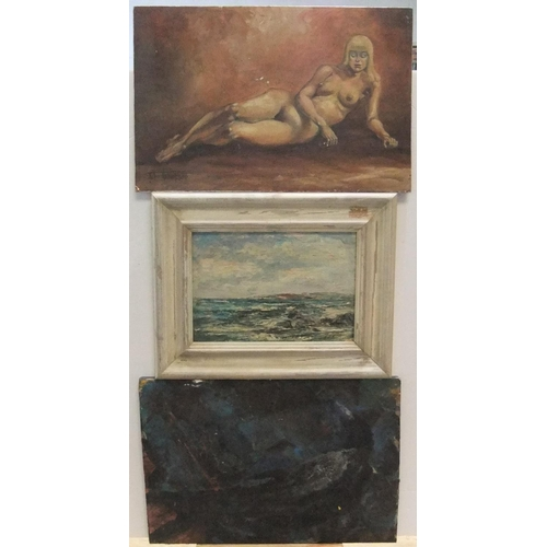 647 - 3 various, mid/late 20thC oils by different artists, all framed, one bears signature, John Thompson ...
