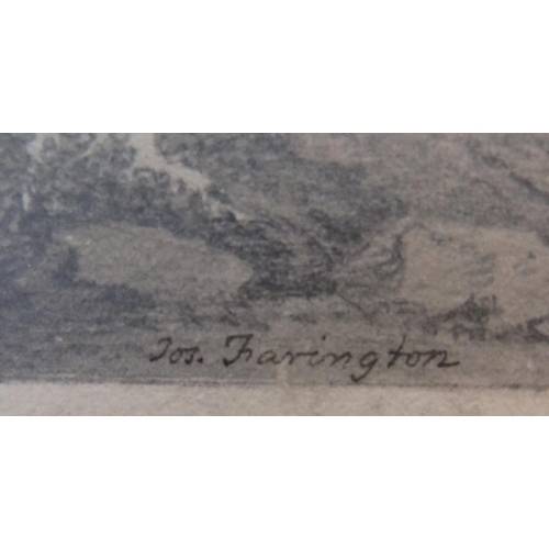 761 - 3 Joseph Farington (1747-1821) pencil drawings of Lake district scenes, signed and inscribed, all un...