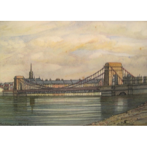 587 - Collection of 11 various watercolours & pastels etc, all unframed including a watercolour by Patric ...