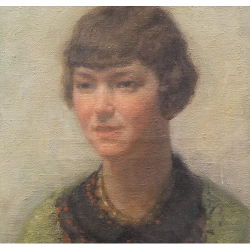 724 - Frans SMEERS (1873-1960) 1929 oil on canvas portrait of a young lady, signed and dated, unframed  49...