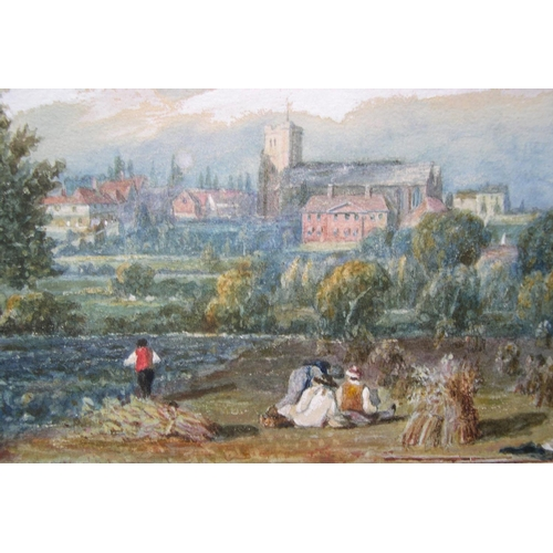 874 - Unsigned, mid Victorian watercolour