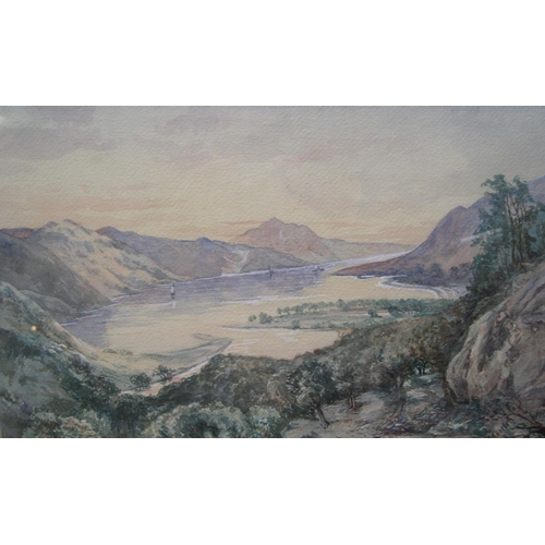 726 - H Gills, early 20thC, Highland mountain lake scene, signed, framed and glazed  27 x 44 cm  Fine cond...