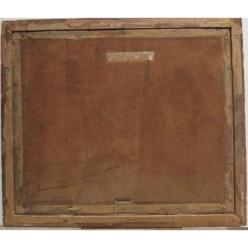 809 - Indistinctly signed, gouache still life, wood framed  26 x 26 cm...