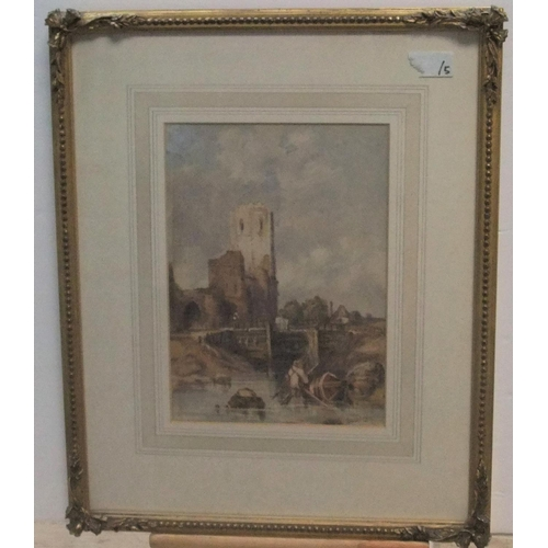 589 - Attributed to David Cox (1783-1859) watercolour