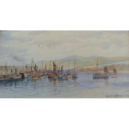 594 - Lawrence Hobson (1872-?) 1913 watercolour