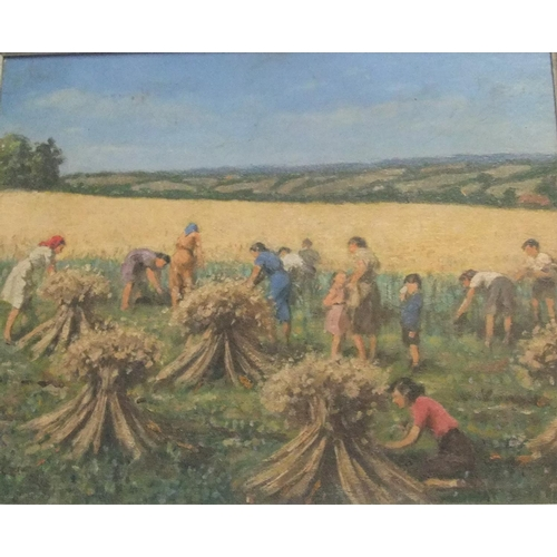 799 - circle of Stanley ROYLE (1888-1961), unsigned oil on artists board,
