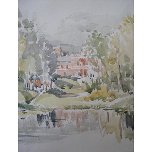 803 - Unsigned, large, Edwardian impressionist watercolour