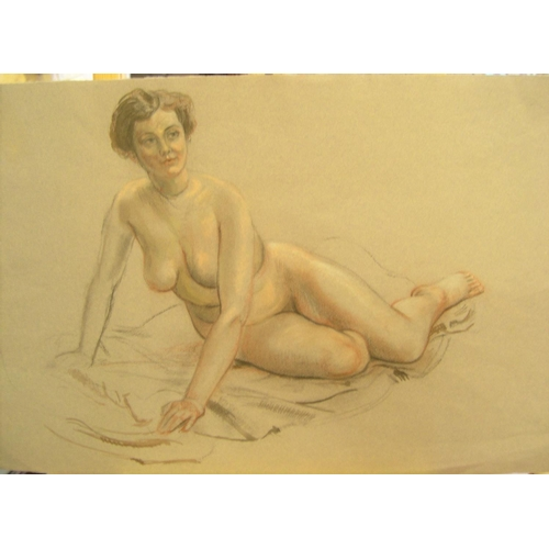 738 - Ronald D Moore, (1950s) 3 watercolours & 2 pastels, all unframed  All are in good, clean condition, ...