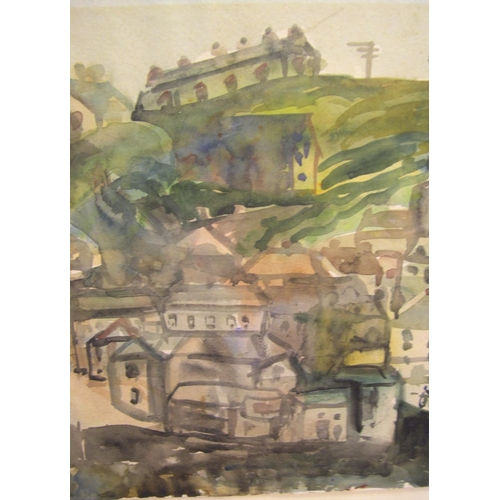 741 - Maurice Mancini ROITH (1900-1958), watercolour, view of Fowey, Cornwall, initialled and dated 1937, ...