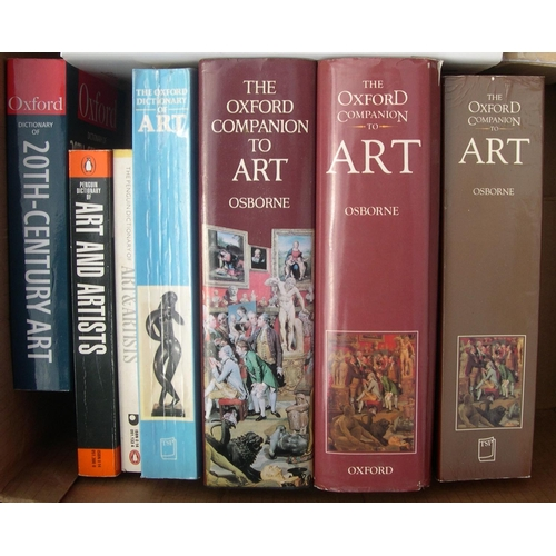 523 - 13 books art reference & values including The Oxford companion to art,  Mayer 2004, Whos who in art ...