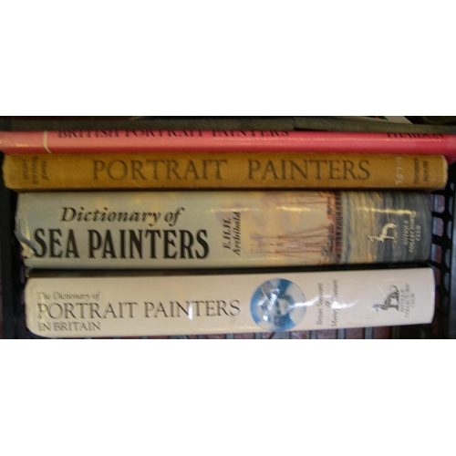 525 - 7 British art reference books to include, Dictionary of British Artists 1900-1950, Mallets, Artists ...