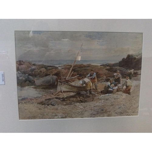 849 - Large, indistinctly signed 1879 watercolour