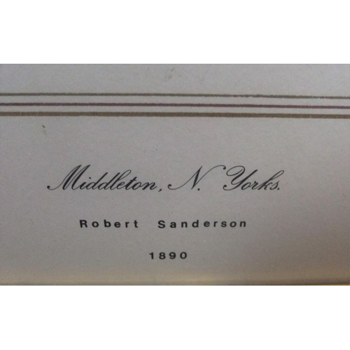 604 - Robert SANDERSON (1848-1908) 1890 watercolour