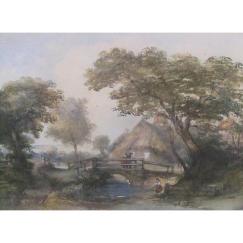 605 - Thomas R. Colman DIBDIN (1810-1893) 1854 watercolour