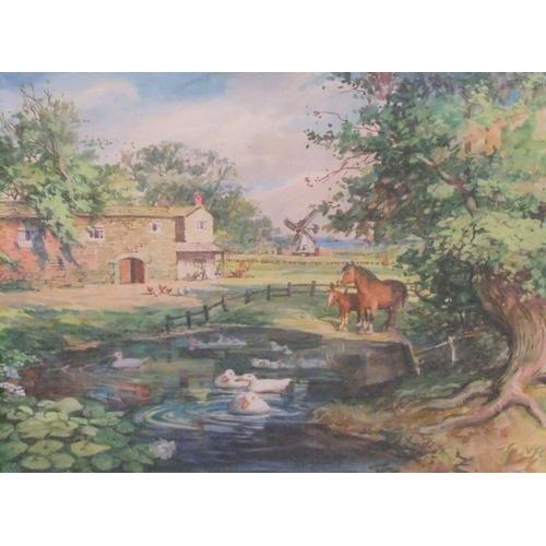 609 - William Ralph E. GOODRICH (1887-1956) 1929 watercolour